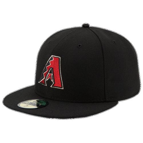 New Era MLB 59Fifty Authentic Cap - Men's - Arizona Diamondbacks - Black / Red