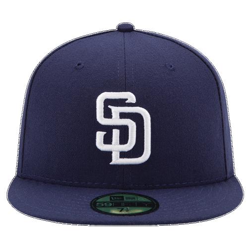 New Era MLB 59Fifty Authentic Cap - Men's - San Diego Padres - Navy / White