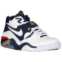 Nike Air Force 180 - Men's -  Charles Barkley - White / Navy