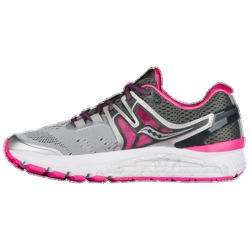 Saucony Hurricane ISO 3 - Women's - Grey / Pink