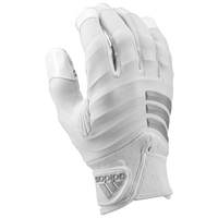 adidas Nasty Fast Padded Football Gloves - Men's - White / Grey