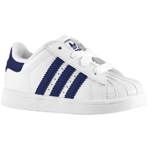 adidas Originals Superstar 2 - Boys' Toddler - White/New Navy/White