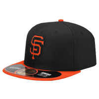 New Era MLB 59Fifty Diamond Era BP Cap - Men's - San Francisco Giants - Black / Orange