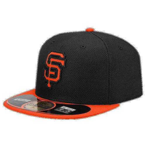 New Era MLB 59Fifty Diamond Era BP Cap   Mens   Baseball   Accessories   San Francisco Giants   Black/Orange