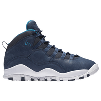 Jordan Retro 10 - Boys' Grade School - Navy / Grey