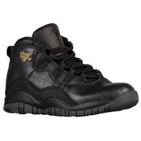 Jordan Retro 10 - Boys' Preschool - Black / Gold