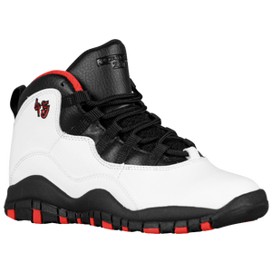 Jordan Retro 10 - Boys' Preschool - White/Black/True Red