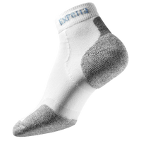 Thorlo Cushioned Heel Mini-Crew Running Socks - White / Grey