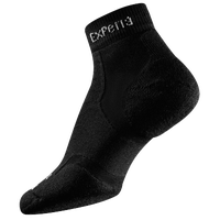 Thorlo Cushioned Heel Mini-Crew Running Socks - All Black / Black