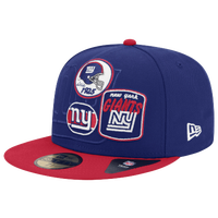 New Era NFL 59Fifty Patch Batcher Cap - Men's - New York Giants - Blue / Red