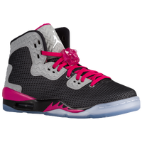 Jordan Air Spike Forty PE - Girls' Grade School - Black / White