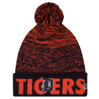 New Era MLB Fade Cuff Pom Knit - Men's - Detroit Tigers - Black / Orange