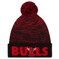 New Era NBA Fade Cuff Pom Knit - Men's - Chicago Bulls - Black / Red