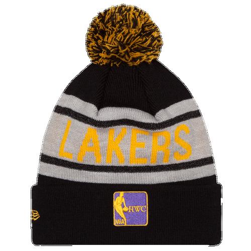 New Era NBA Biggest Fan Delux Knit - Men's - Los Angeles Lakers - Black / White