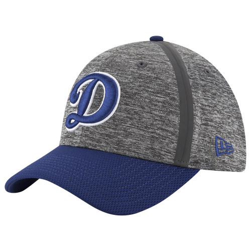 New Era MLB 39Thirty Clubhouse Cap - Men's - Los Angeles Dodgers - Grey / Navy