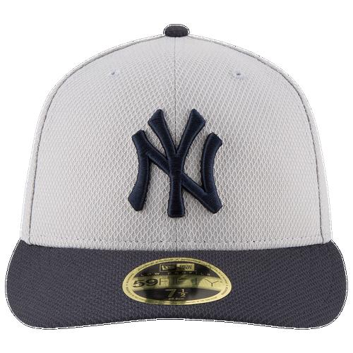 New Era MLB 59Fifty Diamond Era Low Profile Cap - Men's - New York Yankees - Grey / Navy