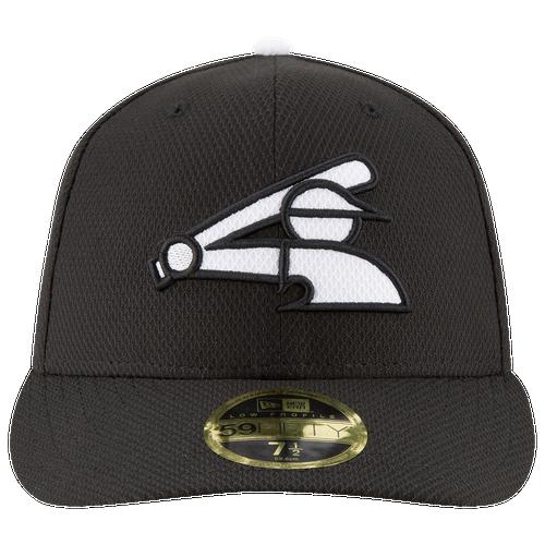 New Era MLB 59Fifty Diamond Era Low Profile Cap - Men's - Chicago White Sox - Black / White