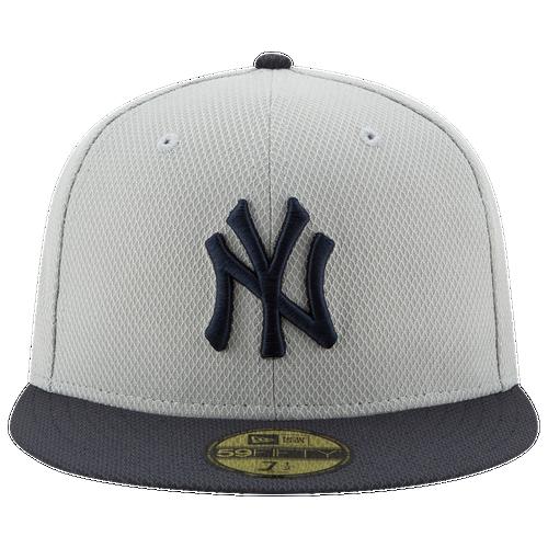New Era MLB 59Fifty AC Diamond Era Cap - Men's - New York Yankees - Grey / Navy