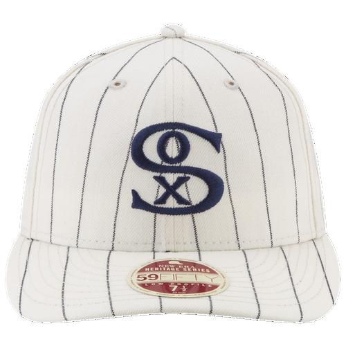 New Era MLB Vintage Fitted Cap - Men's - Chicago White Sox - White / Navy