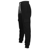 Southpole Basic Fleece Cargo Pants - Men's - All Black / Black