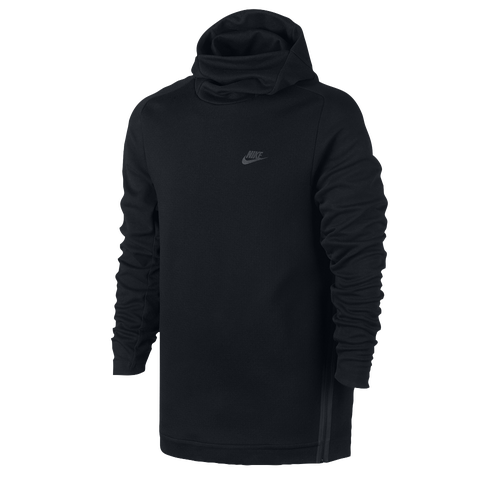 nike tech fleece pull over hoodie men 39 s casual clothing black. Black Bedroom Furniture Sets. Home Design Ideas