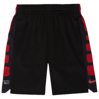 Nike Elite Stripe Shorts - Boys' Toddler - Black / Red