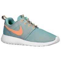 Nike Roshe Run - Women's - Light Green / Orange