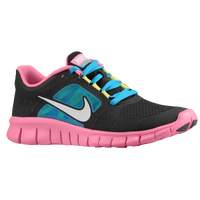 Nike Free Run 3 - Girls' Grade School - Black / Pink