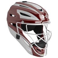 Under Armour Catcher's Pro 2-Tone Head Gear - Maroon / Silver