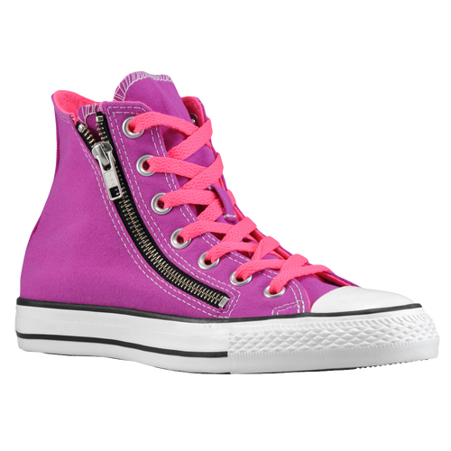 3b7eb0ff1f60 Converse All Star Double Zip Hi Mens Basketball Shoes Purple Cactus Flower