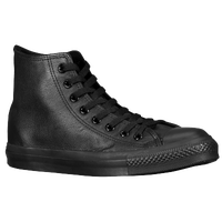 Converse All Star Leather Hi - Men's - All Black / Black