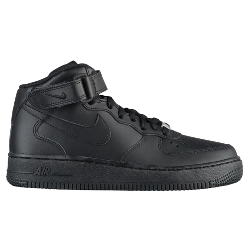 Nike Air Force 1 Mid - Boys\u0026#39; Preschool - All Black / Black