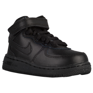 Nike Air Force 1 Mid - Boys' Toddler - Black/Black