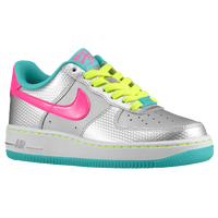 Nike Air Force 1 Low '06 - Girls' Grade School - Silver / Pink