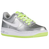 Nike Air Force 1 Low '06 - Girls' Grade School - Silver / White