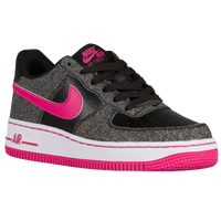 Nike Air Force 1 Low '06 - Girls' Grade School - Black / Grey