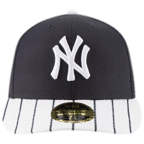 New Era MLB 59Fifty Diamond Era Low Profile Cap - Men's - New York Yankees - Navy / White