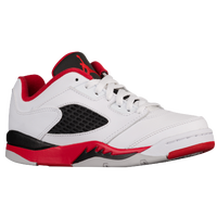 Jordan Retro 5 Low - Boys' Preschool - White / Red