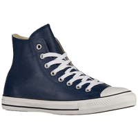 Converse All Star Leather Hi - Men's - Navy / White