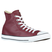 Converse All Star Leather Hi - Men's - Maroon / White