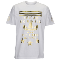 adidas Originals Graphic T-Shirt - Men's - White / Gold