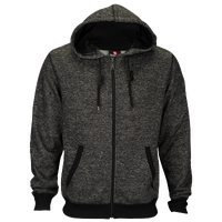 Southpole Marled Full Zip Hoodie - Men's - Grey / Black