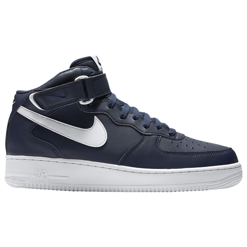Nike Air Force 1 Mid - Men\u0026#39;s - Navy / White