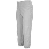 Mizuno Select Non-Belted Fastpitch Pants - Women's - Grey / Grey