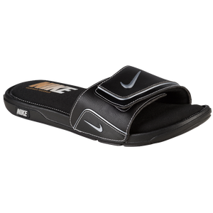 Nike Comfort Slide 2 - Men's - Black/Metallic Silver/White