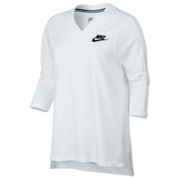 Nike NSW 3/4 Top - Women's - White / Black