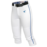 Easton Mako Piped Softball Pants - Women's - White / Blue