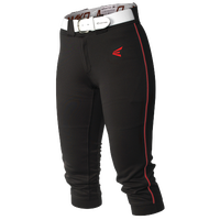 Easton Mako Piped Softball Pants - Women's - Black / Red