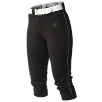 Easton Mako Piped Softball Pants - Women's - Black / Dark Green