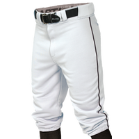 Easton Pro + Knicker Piped Baseball Pants - Men's - White / Black
